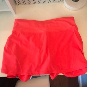 Pink/Orange Neon Athletic Skirt